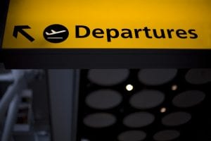 A departure sign at Heathrow Terminal 5