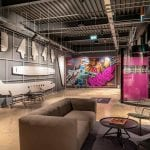 The Lounge at the Moxy Hotel Heathrow